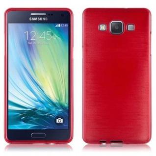 Cadorabo Hülle für Samsung Galaxy A5 2015 in ROT - Handyhülle aus flexiblem TPU Silikon - Silikonhülle Schutzhülle Ultra Slim Soft Back Cover Case Bumper