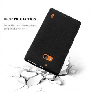 Cadorabo Hülle für Nokia Lumia 929 / 930 in FROST SCHWARZ - Handyhülle aus flexiblem TPU Silikon - Silikonhülle Schutzhülle Ultra Slim Soft Back Cover Case Bumper - Vorschau 3