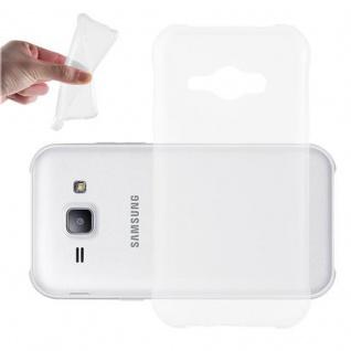 Cadorabo Hülle für Samsung Galaxy J1 ACE in VOLL TRANSPARENT - Handyhülle aus flexiblem TPU Silikon - Silikonhülle Schutzhülle Ultra Slim Soft Back Cover Case Bumper
