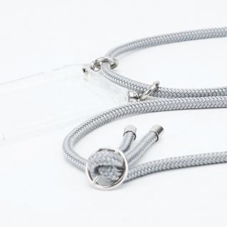 Cadorabo Handy Kette für Honor 30 in SILBER GRAU Silikon Necklace Umhänge Hülle mit Silber Ringen, Kordel Band Schnur und abnehmbarem Etui Schutzhülle - Vorschau 2