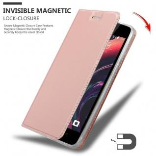 Cadorabo Hülle für HTC Desire 10 Lifestyle / Desire 825 in CLASSY ROSÉ GOLD - Handyhülle mit Magnetverschluss, Standfunktion und Kartenfach - Case Cover Schutzhülle Etui Tasche Book Klapp Style - Vorschau 3