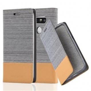 Cadorabo Hülle für LG G5 in HELL GRAU BRAUN - Handyhülle mit Magnetverschluss, Standfunktion und Kartenfach - Case Cover Schutzhülle Etui Tasche Book Klapp Style