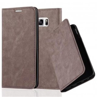 Cadorabo Hülle für Samsung Galaxy NOTE 5 in KAFFEE BRAUN - Handyhülle mit Magnetverschluss, Standfunktion und Kartenfach - Case Cover Schutzhülle Etui Tasche Book Klapp Style