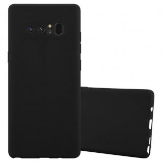 Cadorabo Hülle für Samsung Galaxy NOTE 8 in CANDY SCHWARZ Handyhülle aus flexiblem TPU Silikon Silikonhülle Schutzhülle Ultra Slim Soft Back Cover Case Bumper