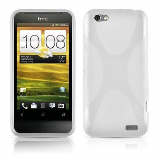Cadorabo Hülle für HTC ONE V in HALB TRANSPARENT ? Handyhülle aus flexiblem TPU Silikon ? Silikonhülle Schutzhülle Ultra Slim Soft Back Cover Case Bumper