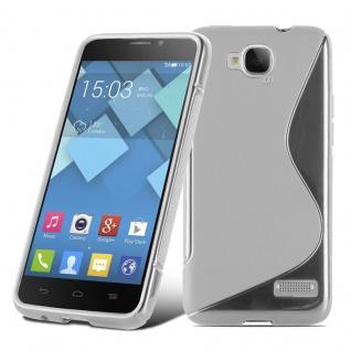 Cadorabo Hülle für Alcatel One Touch IDOL S in HALB TRANSPARENT ? Handyhülle aus flexiblem TPU Silikon ? Silikonhülle Schutzhülle Ultra Slim Soft Back Cover Case Bumper