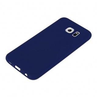 Cadorabo Hülle für Samsung Galaxy S6 in CANDY DUNKEL BLAU - Handyhülle aus flexiblem TPU Silikon - Silikonhülle Schutzhülle Ultra Slim Soft Back Cover Case Bumper - Vorschau 4