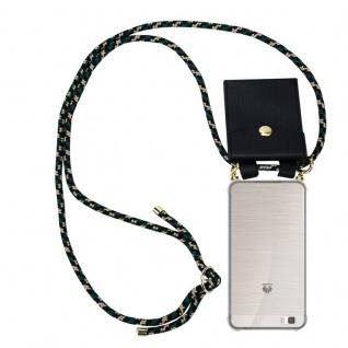 Cadorabo Handy Kette für Huawei P8 LITE 2015 in CAMOUFLAGE - Silikon Necklace Umhänge Hülle mit Gold Ringen, Kordel Band Schnur und abnehmbarem Etui ? Schutzhülle - Vorschau 1
