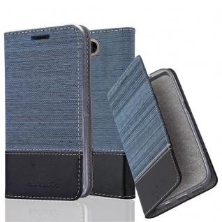 Cadorabo Hülle für LG X POWER 2 in DUNKEL BLAU SCHWARZ - Handyhülle mit Magnetverschluss, Standfunktion und Kartenfach - Case Cover Schutzhülle Etui Tasche Book Klapp Style