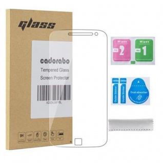 Cadorabo Panzerglas für Motorola MOTO G4 / MOTO G4 PLUS - Schutzfolie in KRISTALL KLAR ? Gehärtetes (Tempered) Display-Schutzglas in 9H Härte mit 3D Touch Kompatibilität