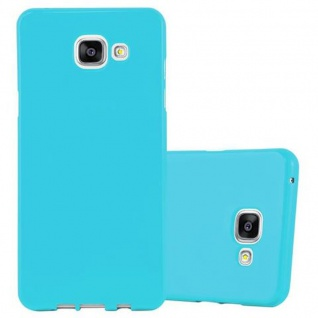 Cadorabo Hülle für Samsung Galaxy A3 2016 in JELLY HELL BLAU ? Handyhülle aus flexiblem TPU Silikon ? Silikonhülle Schutzhülle Ultra Slim Soft Back Cover Case Bumper - Vorschau 1