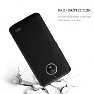 Cadorabo Hülle für Motorola MOTO E4 in METALL SCHWARZ - Hardcase Handyhülle aus Plastik gegen Kratzer und Stöße - Schutzhülle Bumper Ultra Slim Back Case Hard Cover - Vorschau 3