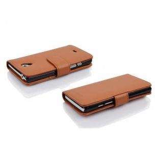 Cadorabo Hülle für Sony Xperia T in COGNAC BRAUN - Handyhülle aus strukturiertem Kunstleder mit Standfunktion und Kartenfach - Case Cover Schutzhülle Etui Tasche Book Klapp Style - Vorschau 3
