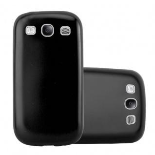 Cadorabo Hülle für Samsung Galaxy S3 / S3 NEO in METALLIC SCHWARZ - Handyhülle aus flexiblem TPU Silikon - Silikonhülle Schutzhülle Ultra Slim Soft Back Cover Case Bumper