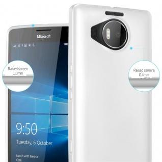 Cadorabo Hülle für Nokia Lumia 950 XL in METALLIC SILBER - Handyhülle aus flexiblem TPU Silikon - Silikonhülle Schutzhülle Ultra Slim Soft Back Cover Case Bumper - Vorschau 4