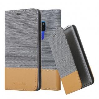 Cadorabo Hülle für Huawei MATE 20 in HELL GRAU BRAUN - Handyhülle mit Magnetverschluss, Standfunktion und Kartenfach - Case Cover Schutzhülle Etui Tasche Book Klapp Style