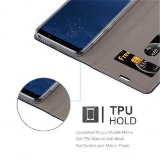 Cadorabo Hülle für Samsung Galaxy S8 in DUNKEL BLAU BRAUN - Handyhülle mit Magnetverschluss, Standfunktion und Kartenfach - Case Cover Schutzhülle Etui Tasche Book Klapp Style - Vorschau 3