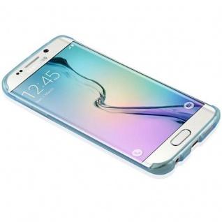 Cadorabo Hülle für Samsung Galaxy S6 EDGE in TRANSPARENT BLAU - Handyhülle aus flexiblem TPU Silikon - Silikonhülle Schutzhülle Ultra Slim Soft Back Cover Case Bumper - Vorschau 4