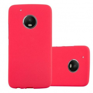 Cadorabo Hülle für Motorola MOTO G5 PLUS - Hülle in FROST ROT ? Handyhülle aus TPU Silikon im matten Frosted Design - Ultra Slim Soft Backcover Case Bumper