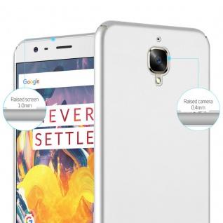 Cadorabo Hülle für OnePlus 3 / 3T in METALL SILBER ? Hardcase Handyhülle aus Plastik gegen Kratzer und Stöße ? Schutzhülle Bumper Ultra Slim Back Case Hard Cover - Vorschau 4