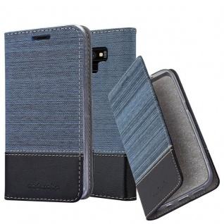 Cadorabo Hülle für Samsung Galaxy NOTE 9 in DUNKEL BLAU SCHWARZ - Handyhülle mit Magnetverschluss, Standfunktion und Kartenfach - Case Cover Schutzhülle Etui Tasche Book Klapp Style