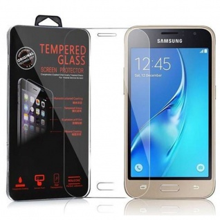Cadorabo Panzerglas für Samsung Galaxy J1 MINI 2016 (6) - Schutzfolie in KRISTALL KLAR ? Gehärtetes (Tempered) Display-Schutzglas in 9H Härte mit 3D Touch Kompatibilität