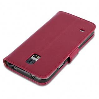 Cadorabo Hülle für Samsung Galaxy S5 / S5 NEO in WEIN ROT ? Handyhülle mit Magnetverschluss, Standfunktion und Kartenfach ? Case Cover Schutzhülle Etui Tasche Book Klapp Style - Vorschau 3