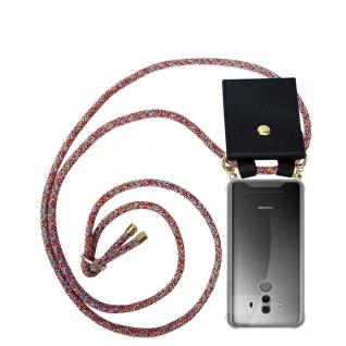 Cadorabo Handy Kette für Huawei MATE 10 PRO in COLORFUL PARROT - Silikon Necklace Umhänge Hülle mit Gold Ringen, Kordel Band Schnur und abnehmbarem Etui ? Schutzhülle