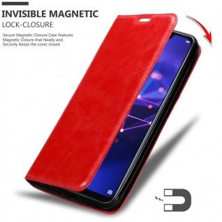 Cadorabo Hülle für Huawei MATE 20 LITE in APFEL ROT - Handyhülle mit Magnetverschluss, Standfunktion und Kartenfach - Case Cover Schutzhülle Etui Tasche Book Klapp Style - Vorschau 3