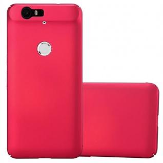 Cadorabo Hülle für Huawei NEXUS 6P in METALL ROT - Hardcase Handyhülle aus Plastik gegen Kratzer und Stöße - Schutzhülle Bumper Ultra Slim Back Case Hard Cover