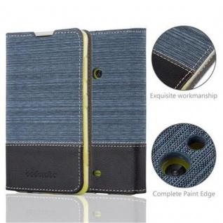 Cadorabo Hülle für Nokia Lumia 625 in DUNKEL BLAU SCHWARZ - Handyhülle mit Magnetverschluss, Standfunktion und Kartenfach - Case Cover Schutzhülle Etui Tasche Book Klapp Style - Vorschau 2