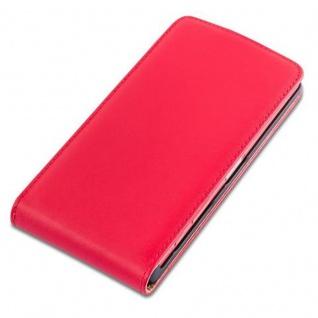 Cadorabo Hülle für Sony Xperia Z5 COMPACT in CHILI ROT - Handyhülle im Flip Design aus glattem Kunstleder - Case Cover Schutzhülle Etui Tasche Book Klapp Style - Vorschau 3