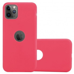 Cadorabo Hülle für Apple iPhone 11 PRO MAX (XI PRO MAX) in CANDY ROT - Handyhülle aus flexiblem TPU Silikon - Silikonhülle Schutzhülle Ultra Slim Soft Back Cover Case Bumper