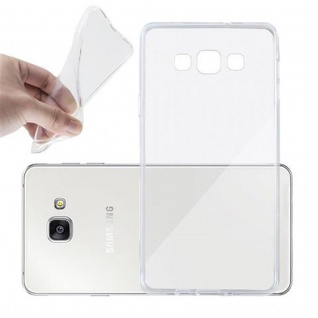 Cadorabo Hülle für Samsung Galaxy A7 2015 in VOLL TRANSPARENT - Handyhülle aus flexiblem TPU Silikon - Silikonhülle Schutzhülle Ultra Slim Soft Back Cover Case Bumper