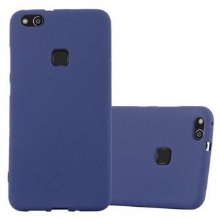 Cadorabo Hülle für Huawei P10 LITE in FROST DUNKEL BLAU - Handyhülle aus flexiblem TPU Silikon - Silikonhülle Schutzhülle Ultra Slim Soft Back Cover Case Bumper