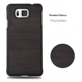 Cadorabo Hülle für Samsung Galaxy ALPHA in WOODY SCHWARZ - Hardcase Handyhülle aus Plastik gegen Kratzer und Stöße - Schutzhülle Bumper Ultra Slim Back Case Hard Cover - Vorschau 4