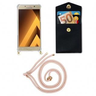 Cadorabo Handy Kette für Samsung Galaxy A5 2017 in PERLIG ROSÉGOLD - Silikon Necklace Umhänge Hülle mit Gold Ringen, Kordel Band Schnur und abnehmbarem Etui ? Schutzhülle - Vorschau 5