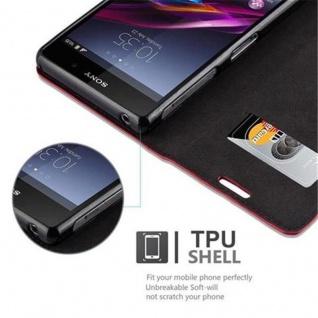 Cadorabo Hülle für Sony Xperia Z1 in APFEL ROT Handyhülle mit Magnetverschluss, Standfunktion und Kartenfach Case Cover Schutzhülle Etui Tasche Book Klapp Style - Vorschau 4