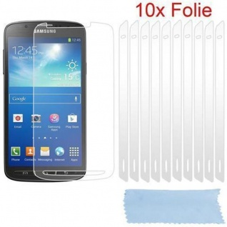 Cadorabo Displayschutzfolien für Samsung Galxy S4 ACTIVE - Schutzfolien in HIGH CLEAR ? 10 Stück hochtransparenter Schutzfolien gegen Staub, Schmutz und Kratzer