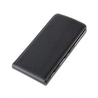 Cadorabo Hülle für Sony Xperia T3 in KAVIAR SCHWARZ - Handyhülle im Flip Design aus glattem Kunstleder - Case Cover Schutzhülle Etui Tasche Book Klapp Style - Vorschau 2
