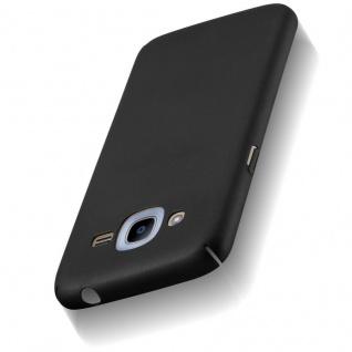 Cadorabo Hülle für Samsung Galaxy J2 2016 in METALL SCHWARZ ? Hardcase Handyhülle aus Plastik gegen Kratzer und Stöße ? Schutzhülle Bumper Ultra Slim Back Case Hard Cover - Vorschau 5