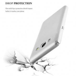Cadorabo Hülle für Samsung Galaxy J5 2016 in METALL SILBER ? Hardcase Handyhülle aus Plastik gegen Kratzer und Stöße ? Schutzhülle Bumper Ultra Slim Back Case Hard Cover - Vorschau 5