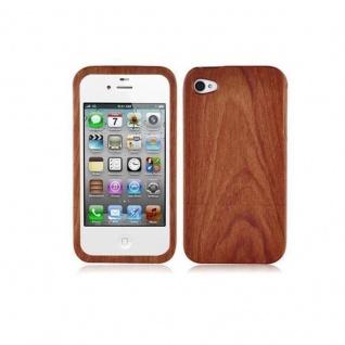 Cadorabo Hülle für Apple iPhone 4 / iPhone 4S - Hülle aus ROSEN BAMBUS - Handyhülle aus 100% Echtholz - Case Cover Schutzhülle Hard Case