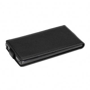 Cadorabo Hülle für Sony Xperia XA2 in OXID SCHWARZ - Handyhülle im Flip Design aus strukturiertem Kunstleder - Case Cover Schutzhülle Etui Tasche Book Klapp Style - Vorschau 2