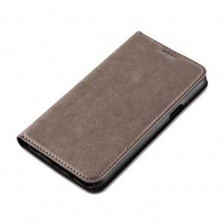 Cadorabo Hülle für Samsung Galaxy J5 2015 in KAFFEE BRAUN - Handyhülle mit Magnetverschluss, Standfunktion und Kartenfach - Case Cover Schutzhülle Etui Tasche Book Klapp Style - Vorschau 3