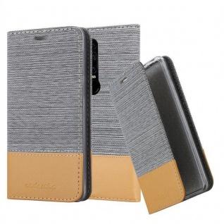 Cadorabo Hülle für Huawei MATE RS in HELL GRAU BRAUN - Handyhülle mit Magnetverschluss, Standfunktion und Kartenfach - Case Cover Schutzhülle Etui Tasche Book Klapp Style