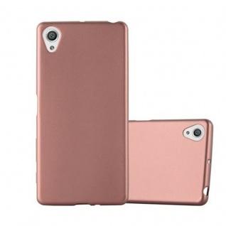 Cadorabo Hülle für Sony Xperia X - Hülle in METALLIC ROSE GOLD ? Handyhülle aus TPU Silikon im Matt Metallic Design - Ultra Slim Soft Backcover Case Bumper