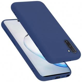 Cadorabo Hülle für Samsung Galaxy NOTE 10 in LIQUID BLAU Handyhülle aus flexiblem TPU Silikon Silikonhülle Schutzhülle Ultra Slim Soft Back Cover Case Bumper