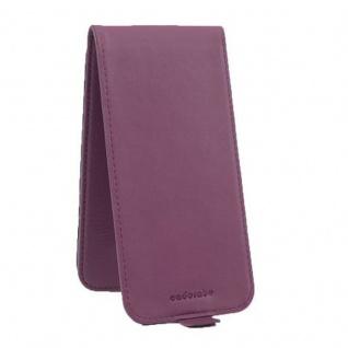 Cadorabo Hülle für Sony Xperia M5 in BORDEAUX LILA - Handyhülle im Flip Design aus strukturiertem Kunstleder - Case Cover Schutzhülle Etui Tasche Book Klapp Style - Vorschau 2