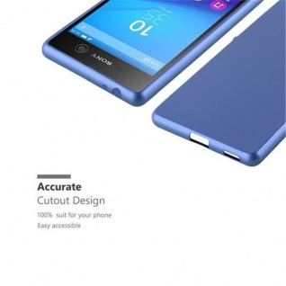 Cadorabo Hülle für Sony Xperia M5 in METALLIC BLAU - Handyhülle aus flexiblem TPU Silikon - Silikonhülle Schutzhülle Ultra Slim Soft Back Cover Case Bumper - Vorschau 2
